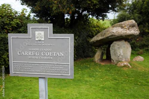 Canvas Carreg Coetan burial chamber