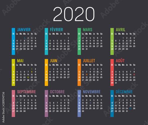 Calendrier Agenda 2020.Calendrier Agenda 2020 Buy This Stock Vector And Explore