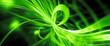 canvas print picture - Green glowing quantum mechanics widescreen background