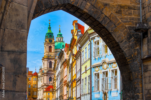 Entry into the colorful district of Mala Strana in Prague Wallpaper Mural