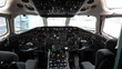 Cabina de un avión comercial