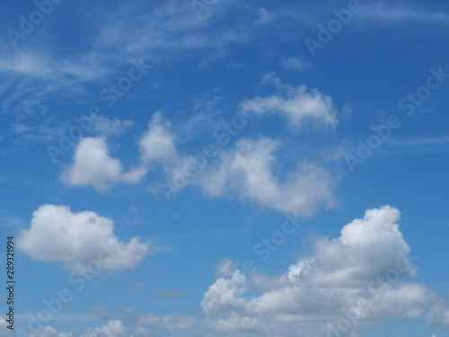 Foto op Plexiglas Hemel Beautiful sky in thailand. Beautiful Blue Sky Background with White Clouds. The blue backdrop has some clouds.