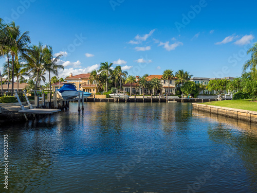 Waterfront neighbourhood in South Florida