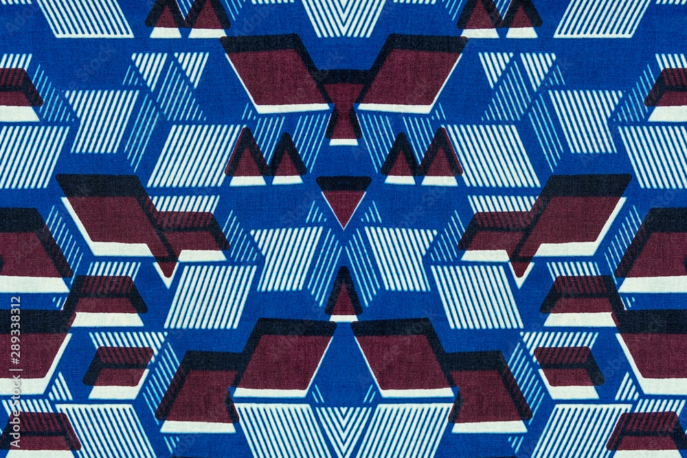 Fototapety, obrazy: Geometric pattern of an African fabric