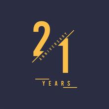 21 Years Anniversary Design