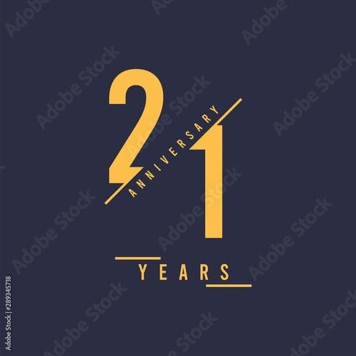 Fotografia 21 Years anniversary design