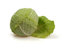 Savoy Cabbage With Unfolded Le...