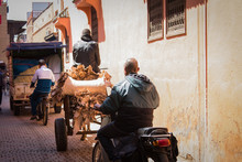 Sellers On Mopeds, Carts And C...