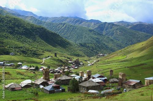 Georgia, Ushguli, village in the mountains