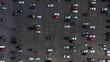 Parkinglot in Kiev half filled with cars