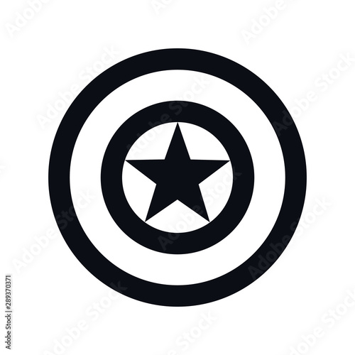 Photo  Captain America Shield. Vector illustration