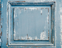 Distressed Painted Wood Panel ...