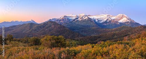 Fototapeta  Wasatch first snow panorama, Utah, USA.