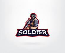 Soldier Mascot Character Logo ...