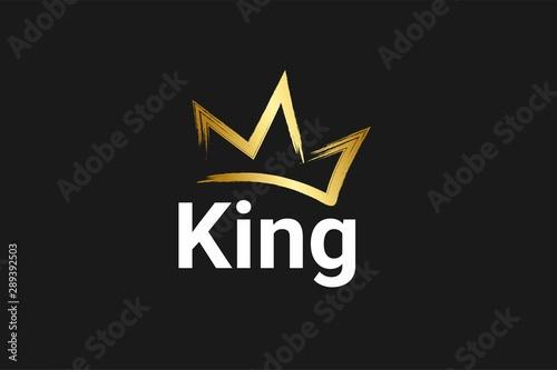 Foto Vintage Crown Logo Royal King Queen abstract Logo design vector template
