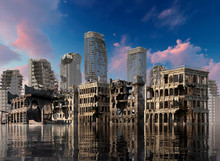 Global Warming Ruins Of A City...