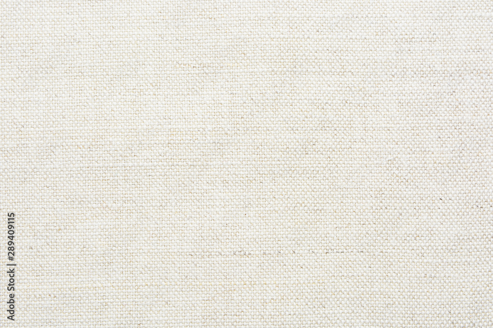 Fototapeta Fabric canvas natural linen beige texture for backgrounds