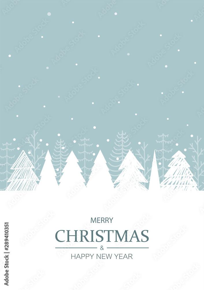 Fototapeta Christmas winter background. Vector illustration.