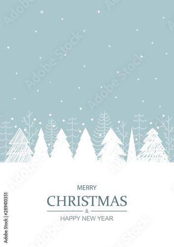 Christmas winter background. Vector illustration. Canvas Print