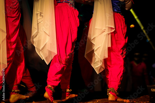 indian classical dance form in feet with musical anklet with selective focus and Wallpaper Mural