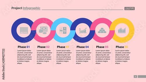 Fotografía  Six phases timeline slide template