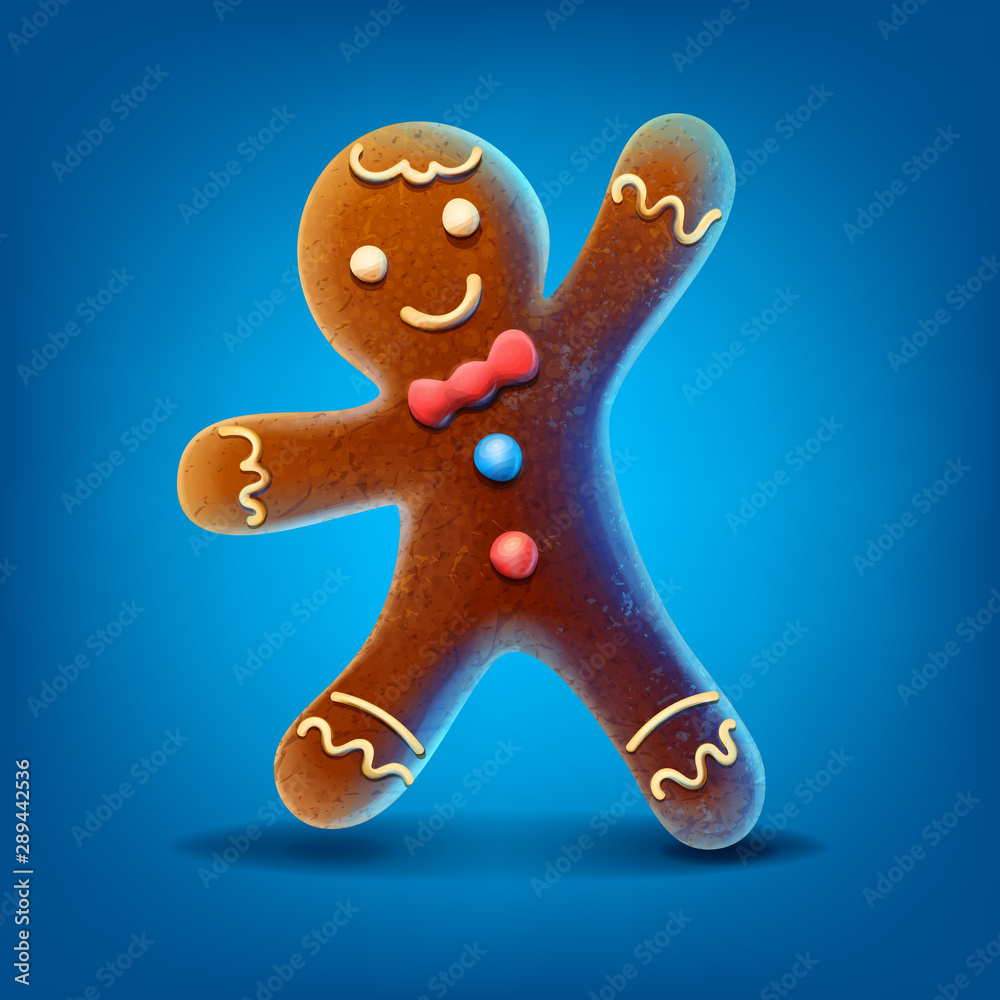 Fototapety, obrazy: gingerbread man isolated