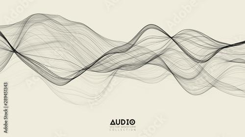 Photo Vector 3d echo audio wavefrom spectrum
