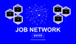 canvas print picture - Concept of job network
