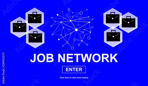 canvas print motiv - thodonal : Concept of job network