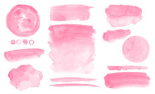 Pink Watercolor Stains And Was...