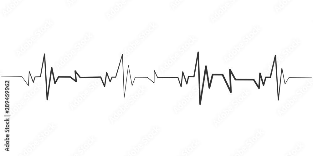 Fototapeta heartbeat icon. Vector illustration. Heartbeat sign in flat design.