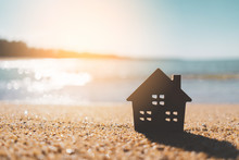 Small Home Model On Sunset Bea...