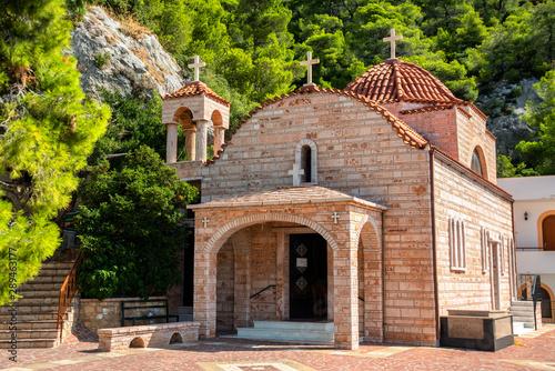 Vászonkép Monastery of Saint Patapios near Loutraki, Corinthia, Greece