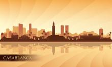 Casablanca City Skyline Silhou...
