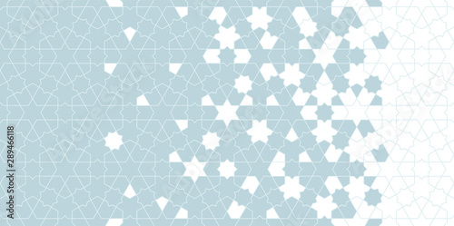 Arabesque vector seamless pattern Canvas Print