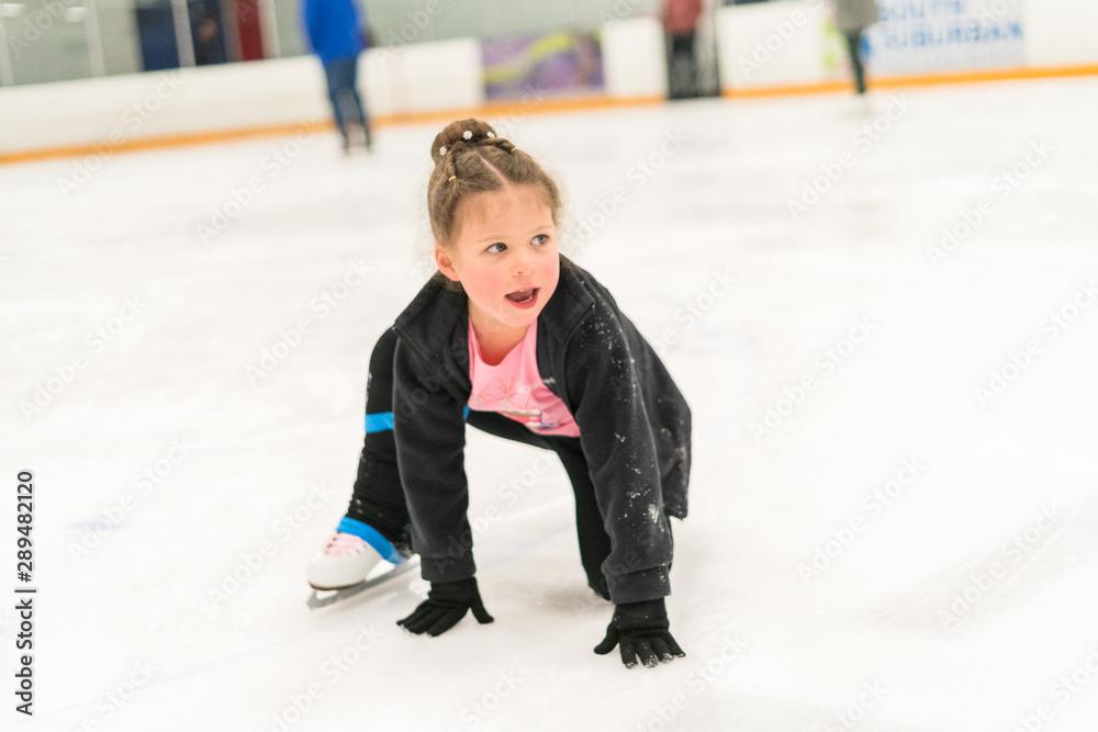 Fototapeta Ice skating