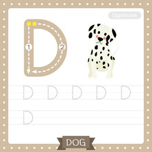 Letter D Uppercase Tracing Pra...
