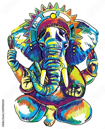 Fotomural God Ganesh