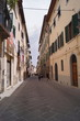 Typical street of Colle Val d'Elsa, Tuscany, Italy
