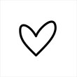 Love icon. symbol of heart or love with trendy flat line style icon for web site design, logo, app, UI isolated on white background. vector illustration eps 10