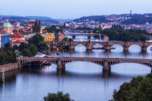 Fototapeta prague bridges letna park view obraz na płótnie