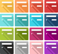 Set Of Colored French Mailbox Icons