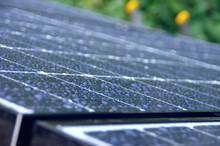 Solar Panels In The Rain