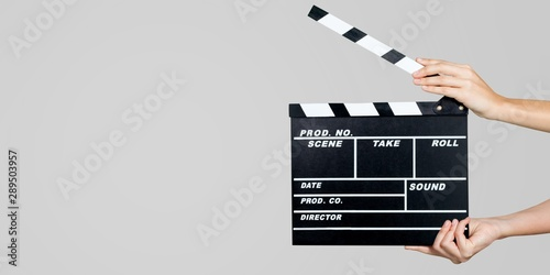 Clapperboard. Canvas Print