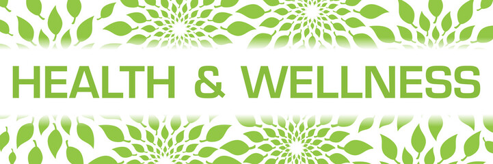Fototapeta Do Spa Health And Wellness Green Leaves Background Texture Horizontal