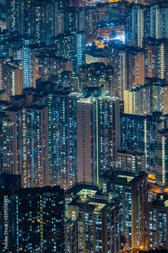 Aerial view of Hong Kong Downtown, Republic of China Fotobehang