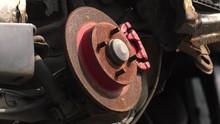 Rusty Brake Disc.