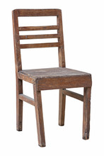 Old Wooden Chair Isolated On W...