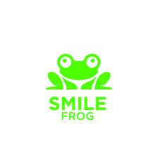 Green Frog Logo Icon Designs Vector