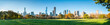 Central Park in New York City as panorama background